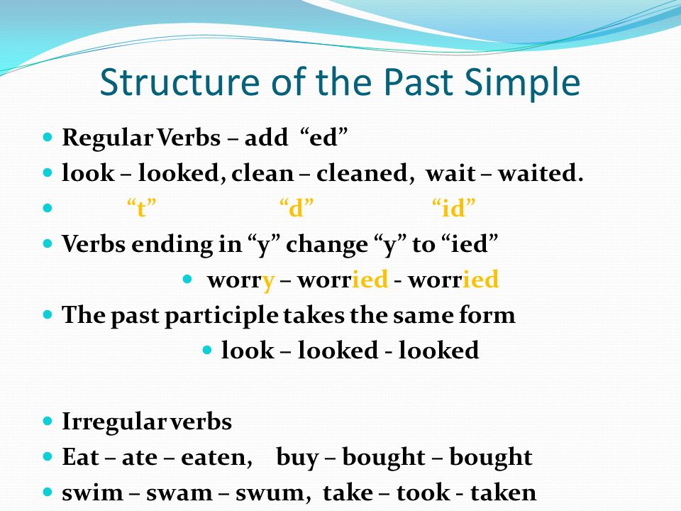 Structure of the Past Simple