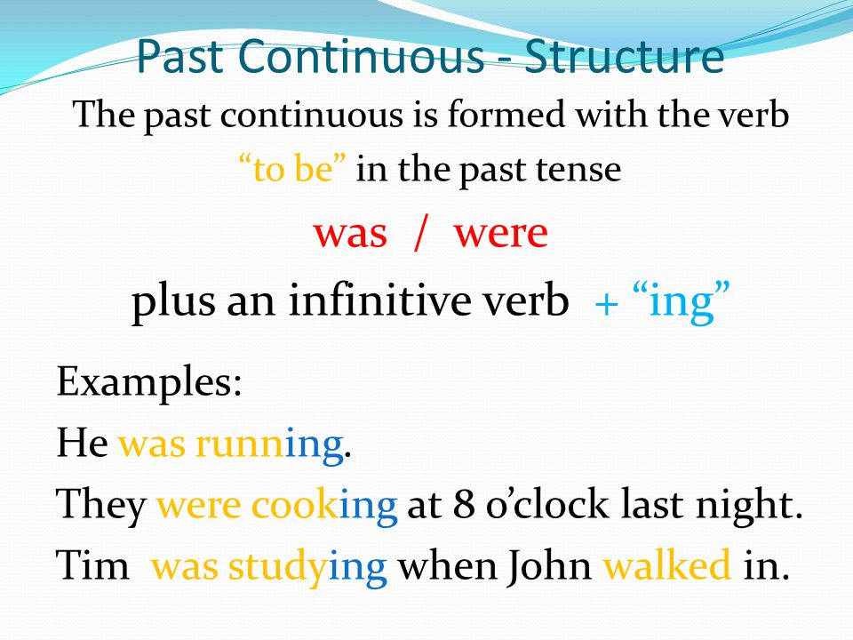 Past Continuous - Structure