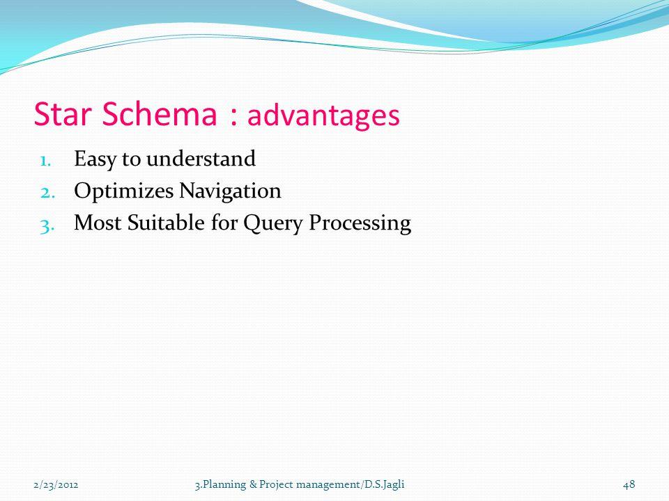 Star Schema : advantages