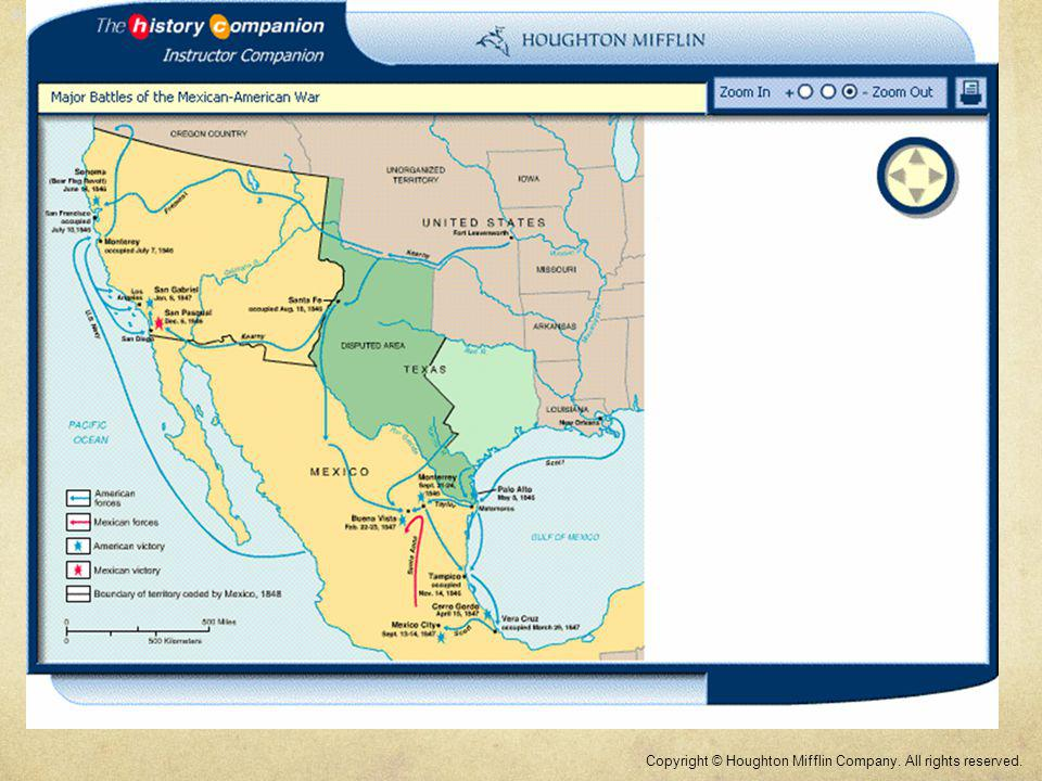 Map: Major Battles of the Mexican-American War