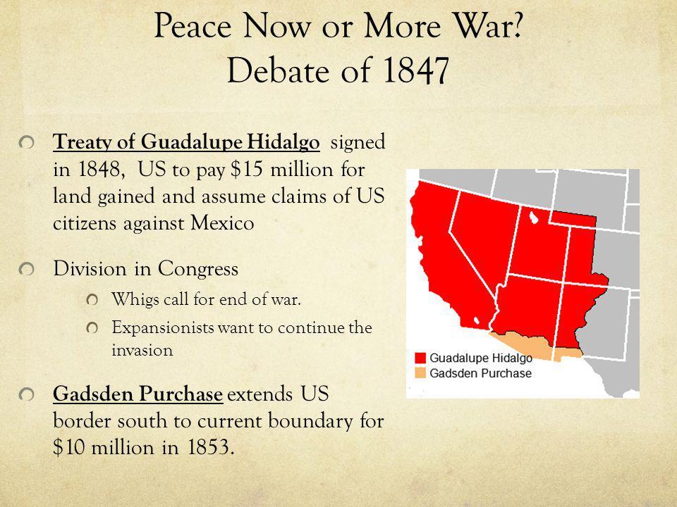 Peace Now or More War Debate of 1847