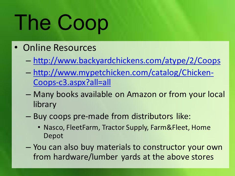 The Coop Online Resources