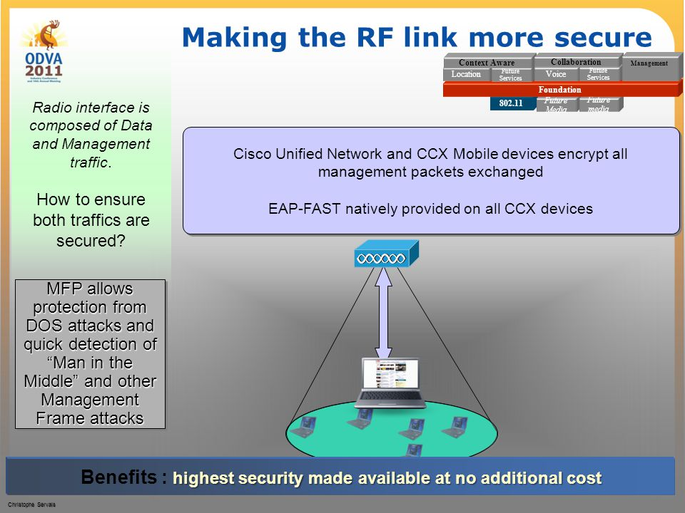 Making the RF link more secure