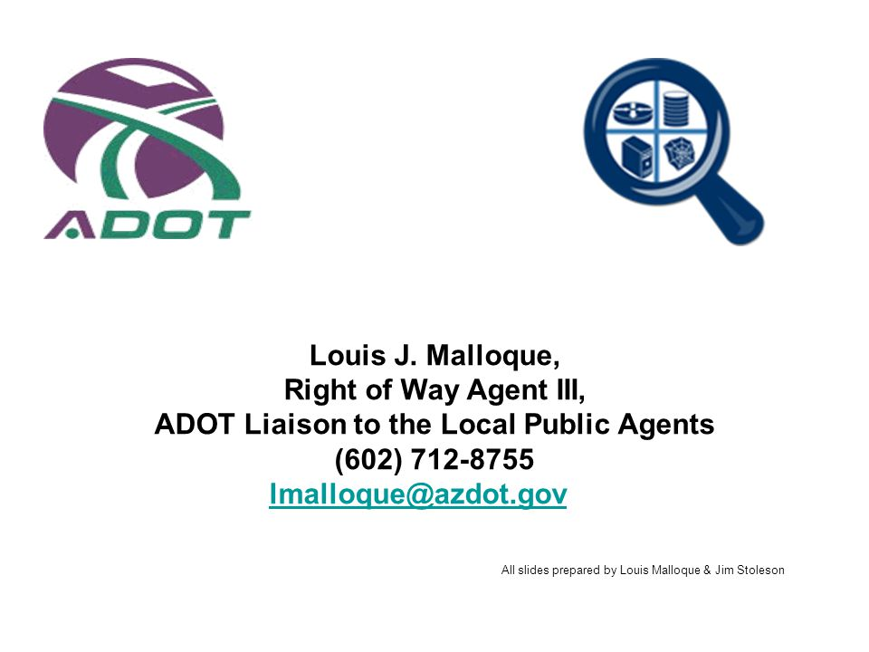 ADOT Liaison to the Local Public Agents