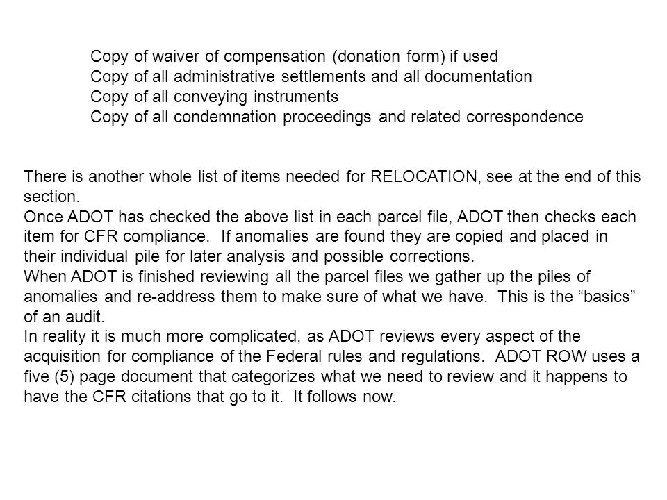 Copy of waiver of compensation (donation form) if used