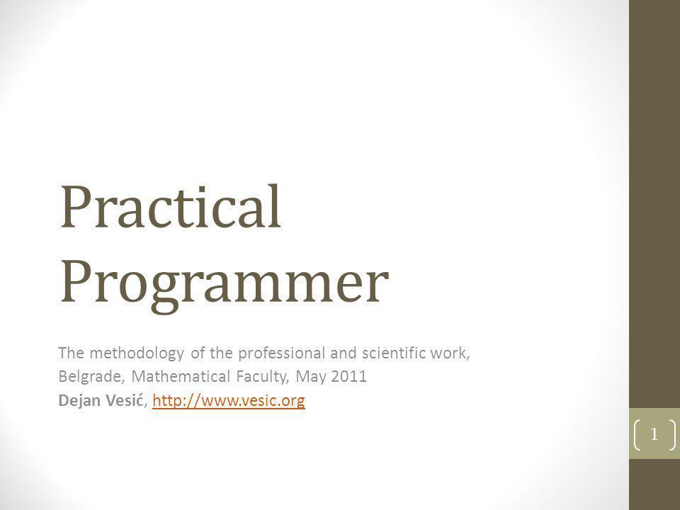Practical Programmer