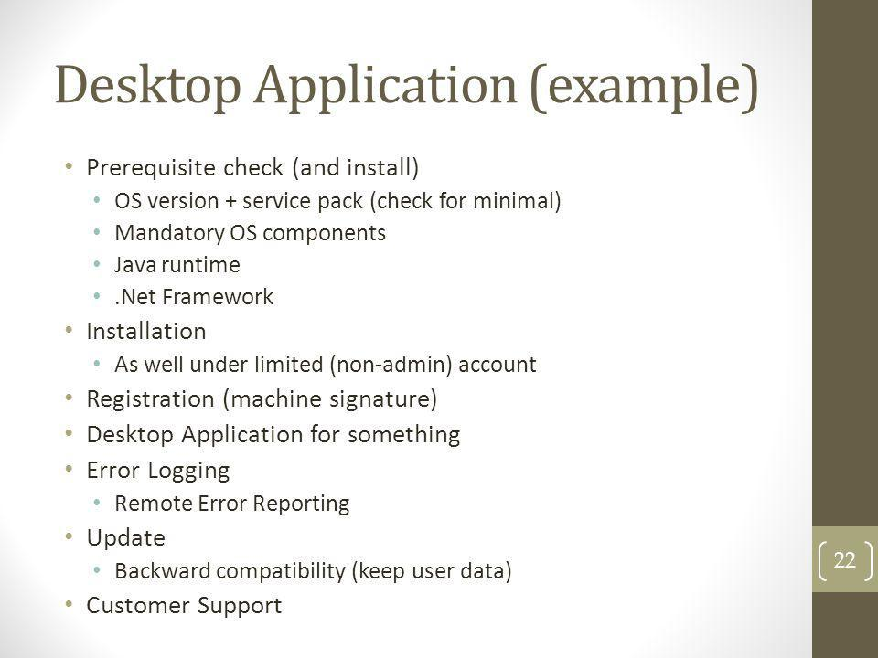 Desktop Application (example)