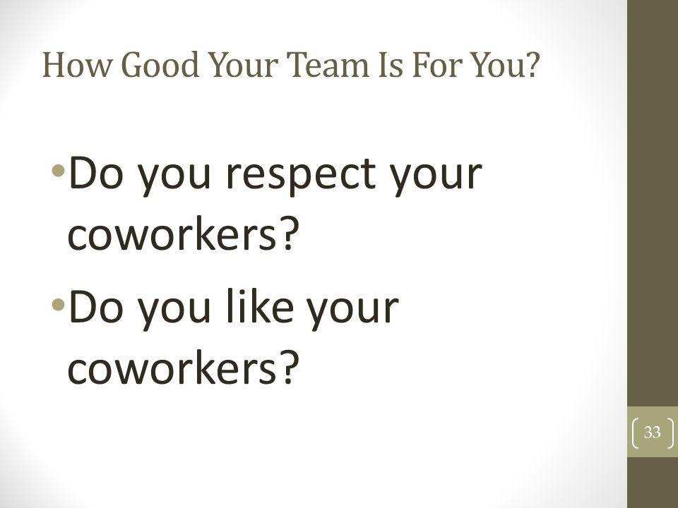 How Good Your Team Is For You