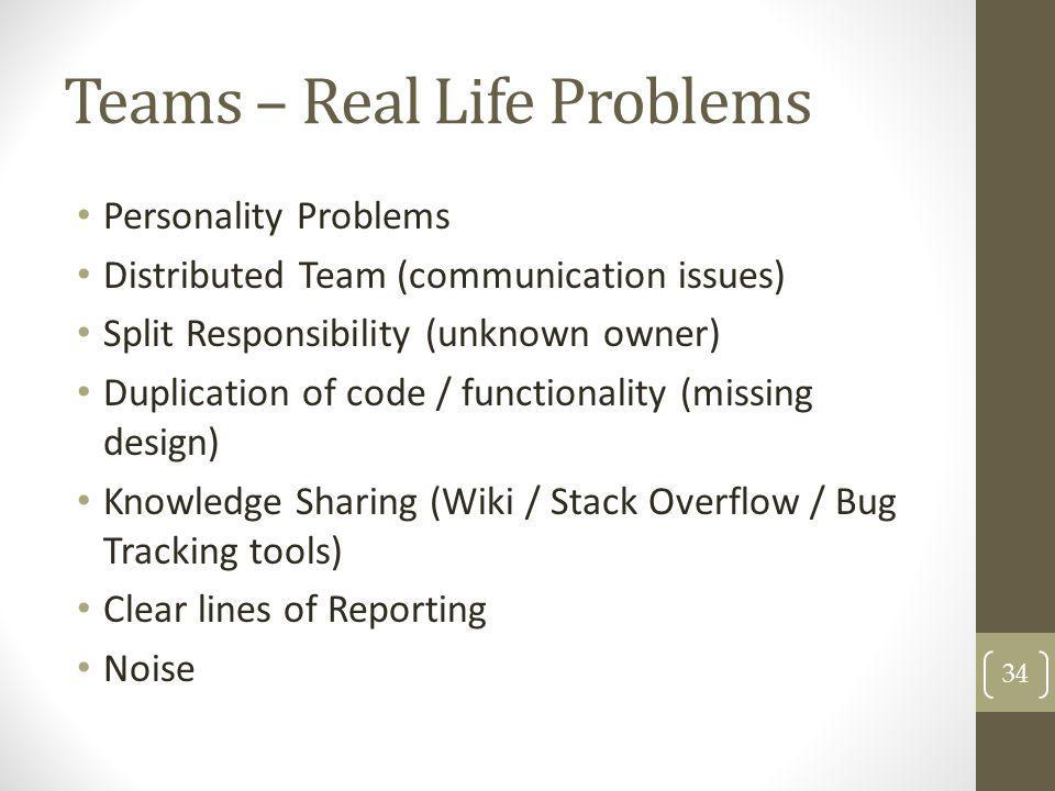 Teams – Real Life Problems