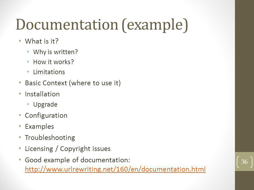 Documentation (example)