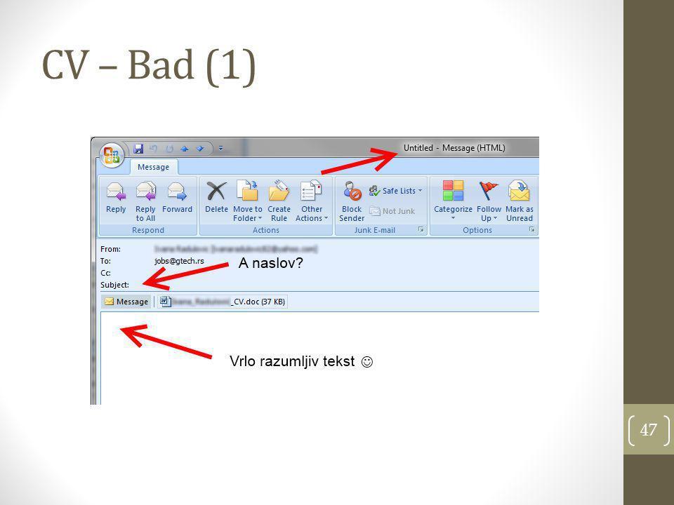 CV – Bad (1)
