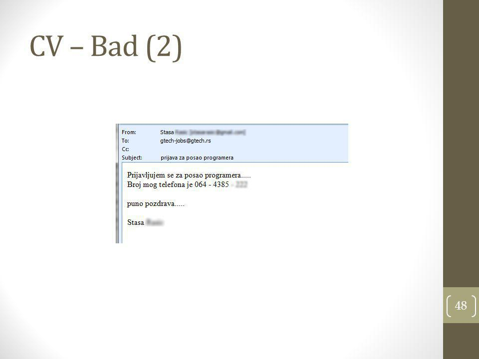 CV – Bad (2)