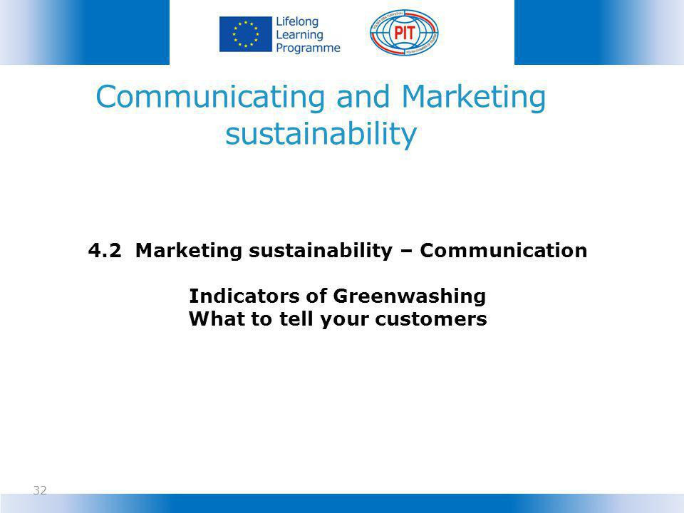 Communicating and Marketing sustainability