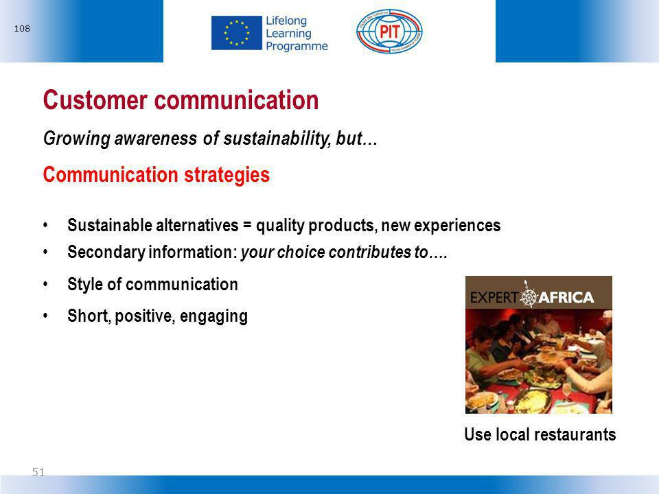 Customer communication