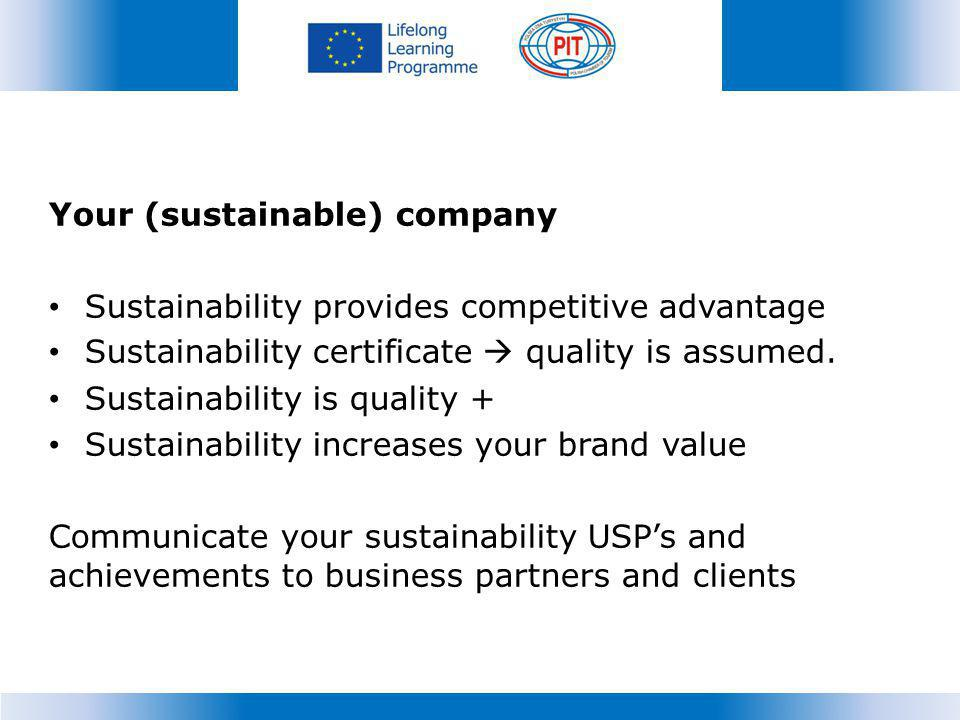 Your (sustainable) company