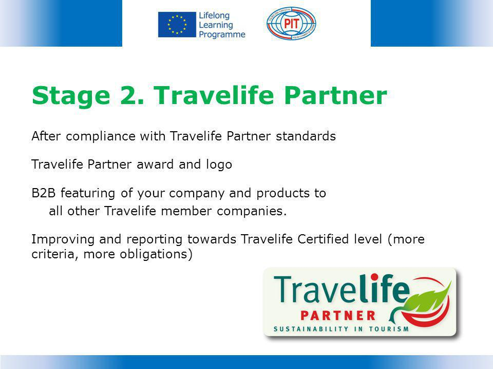 Stage 2. Travelife Partner