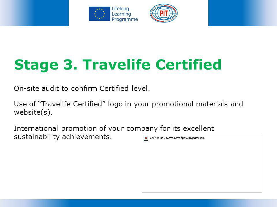 Stage 3. Travelife Certified