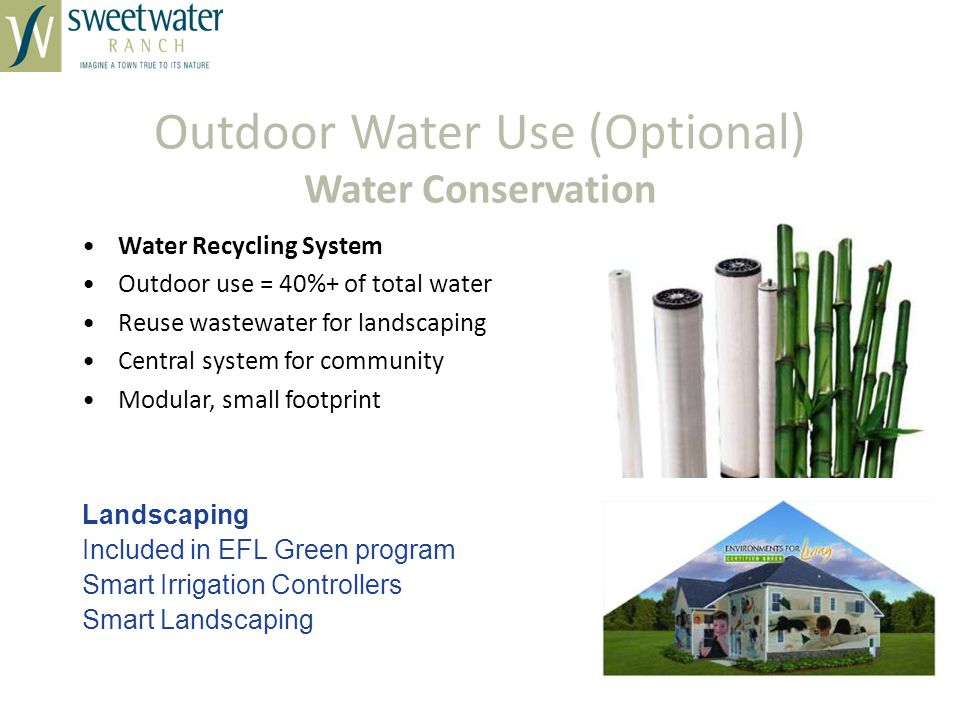 Outdoor Water Use (Optional) Water Conservation