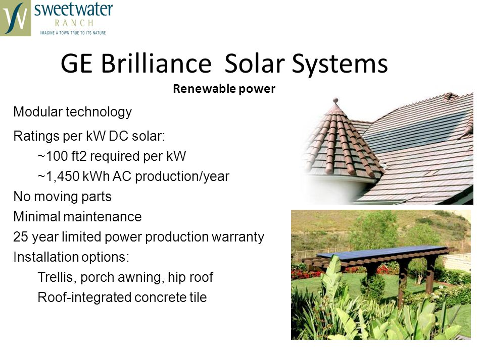 GE Brilliance Solar Systems Renewable power