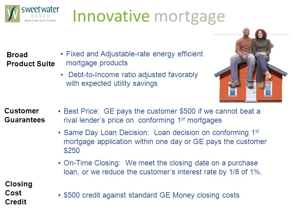 Innovative mortgage Broad Product Suite