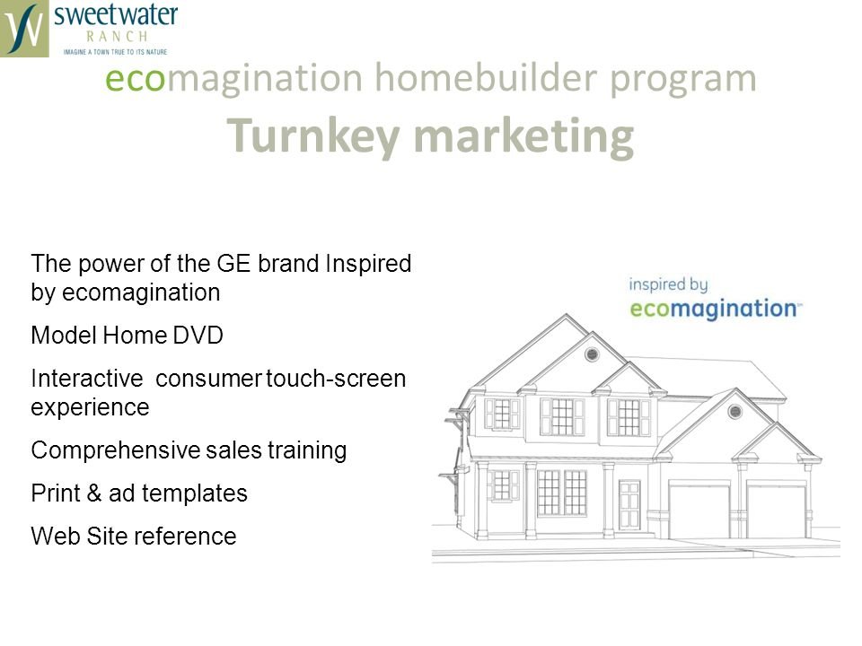 ecomagination homebuilder program Turnkey marketing