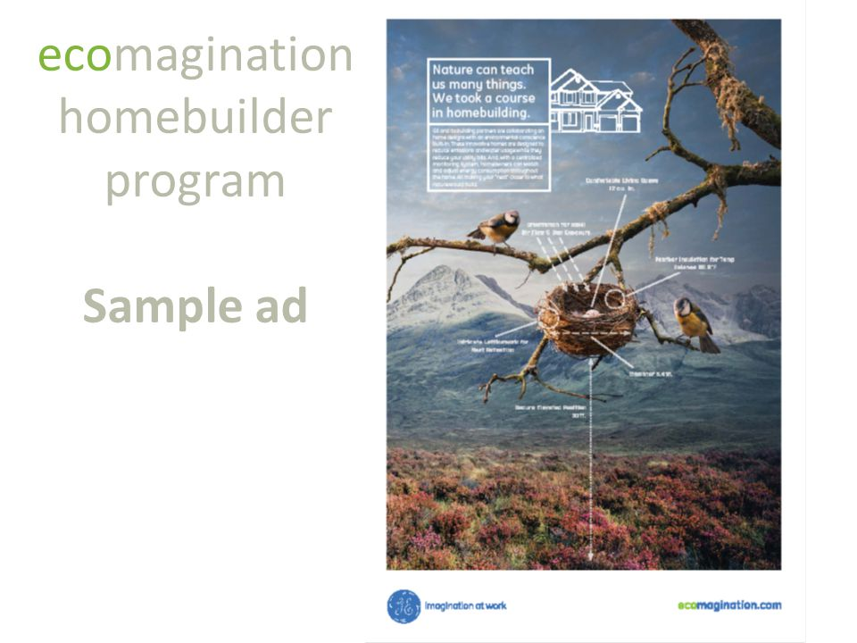 ecomagination homebuilder program Sample ad
