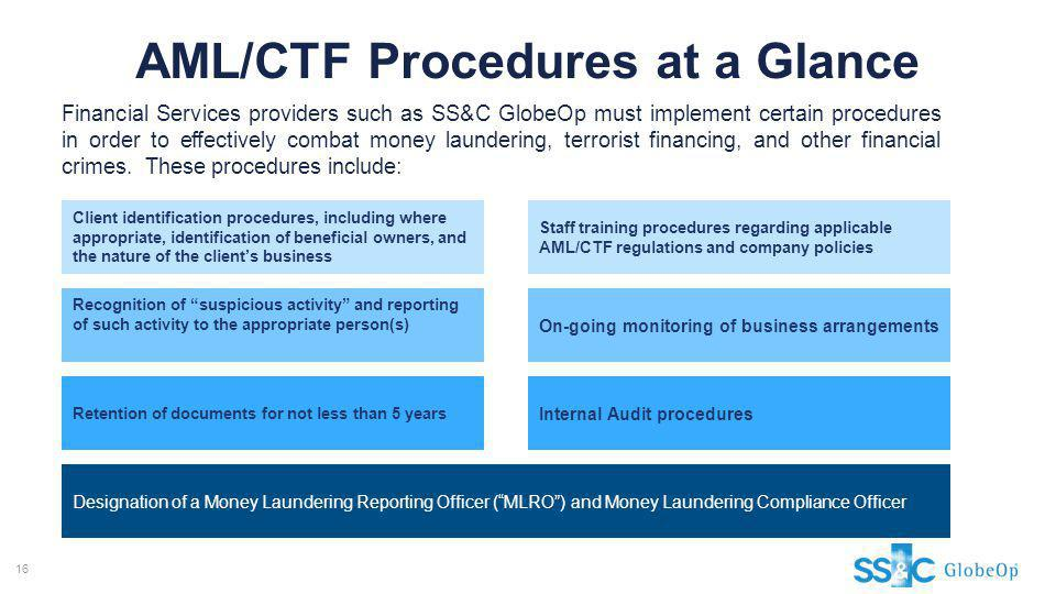 AML/CTF Procedures at a Glance