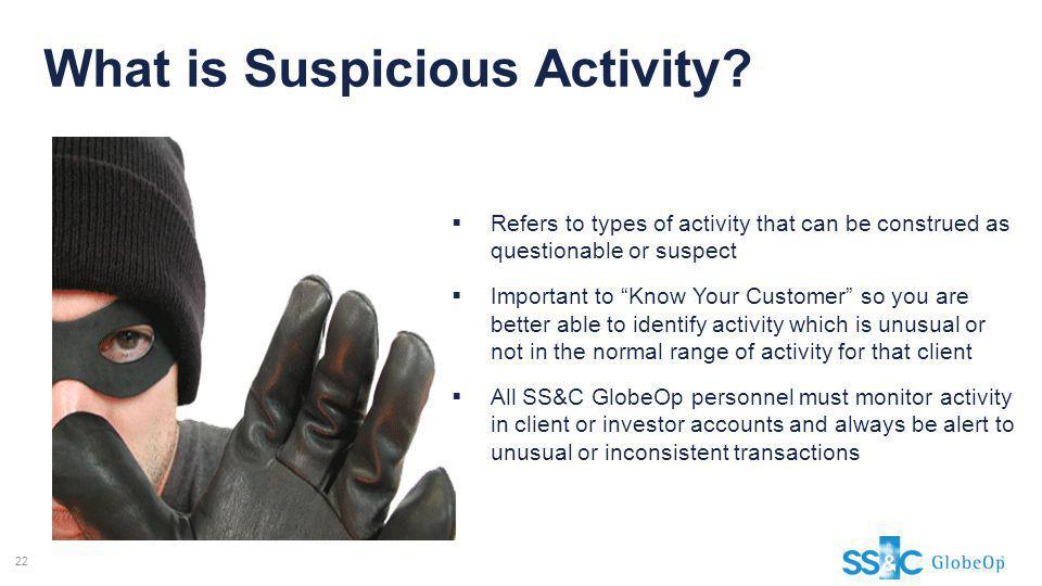 What is Suspicious Activity
