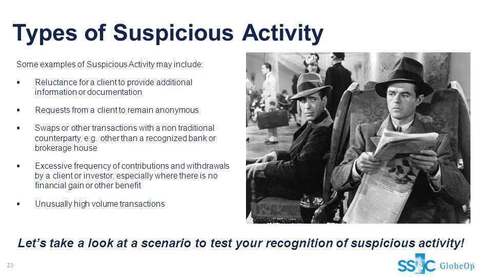 Types of Suspicious Activity