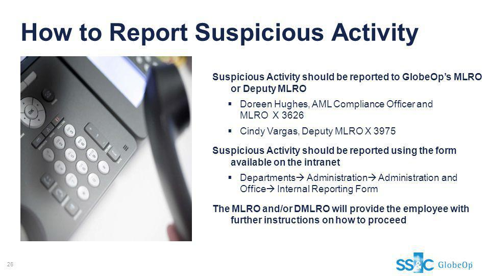 How to Report Suspicious Activity