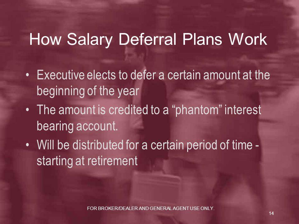 How Salary Deferral Plans Work