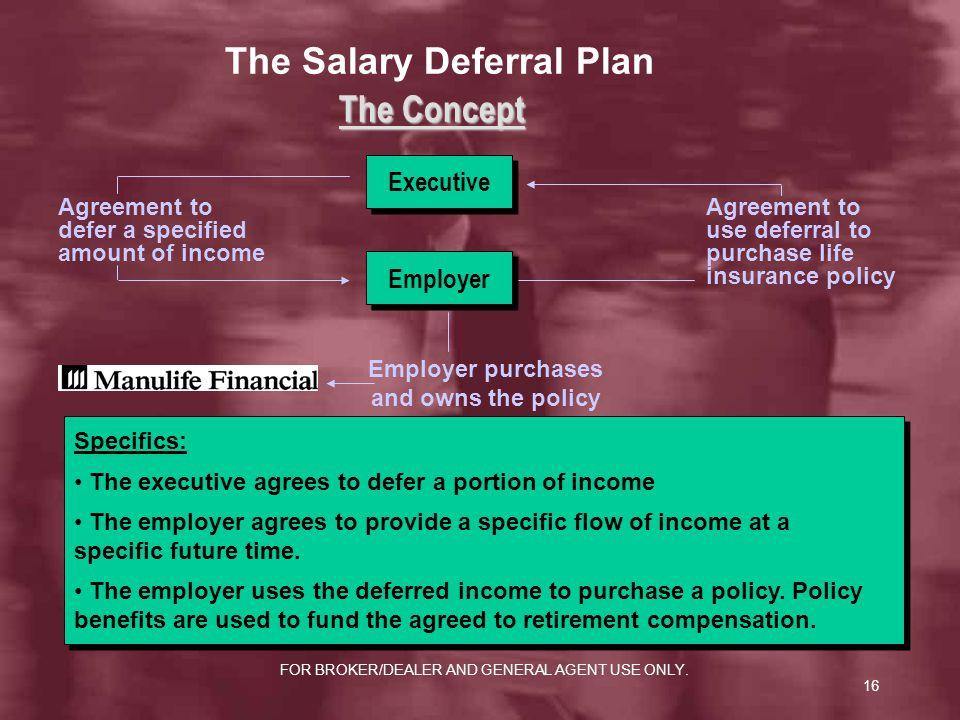 The Salary Deferral Plan