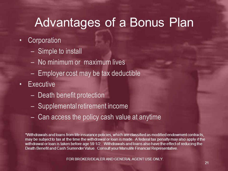 Advantages of a Bonus Plan