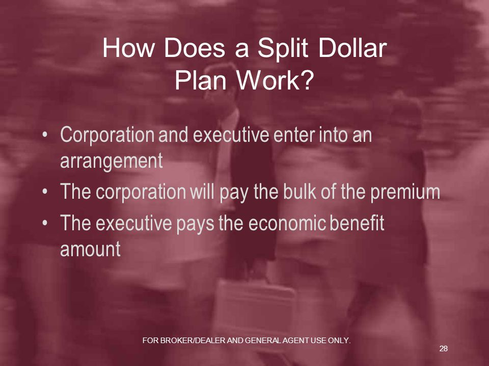 How Does a Split Dollar Plan Work