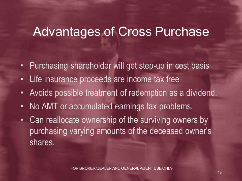 Advantages of Cross Purchase