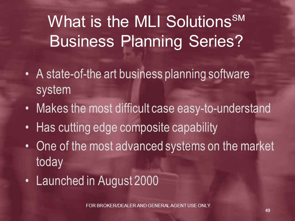 What is the MLI SolutionsSM Business Planning Series