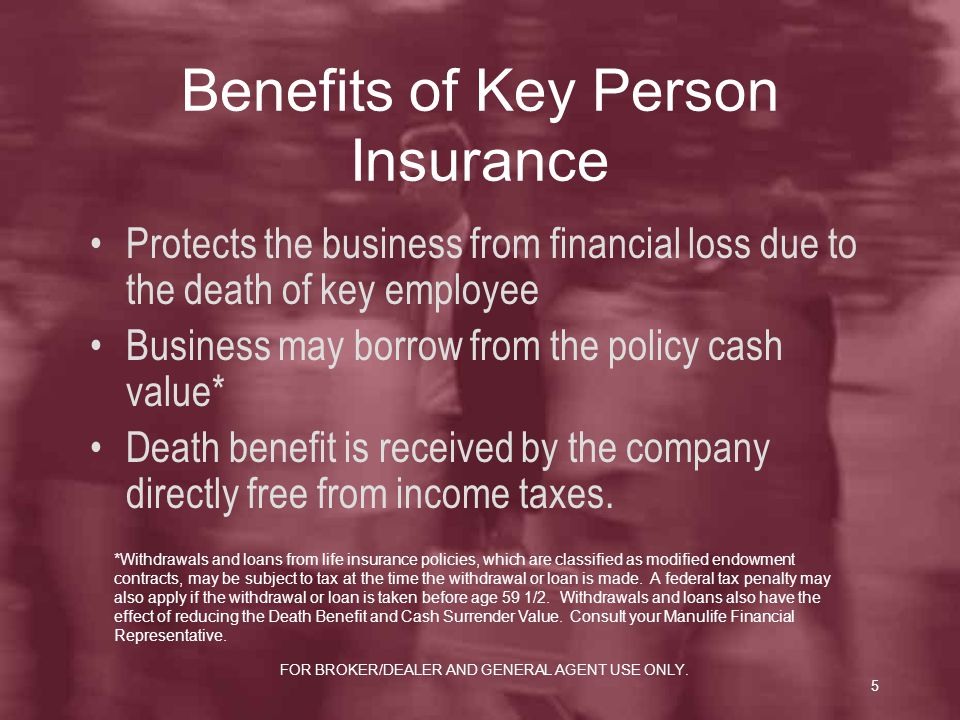 Benefits of Key Person Insurance