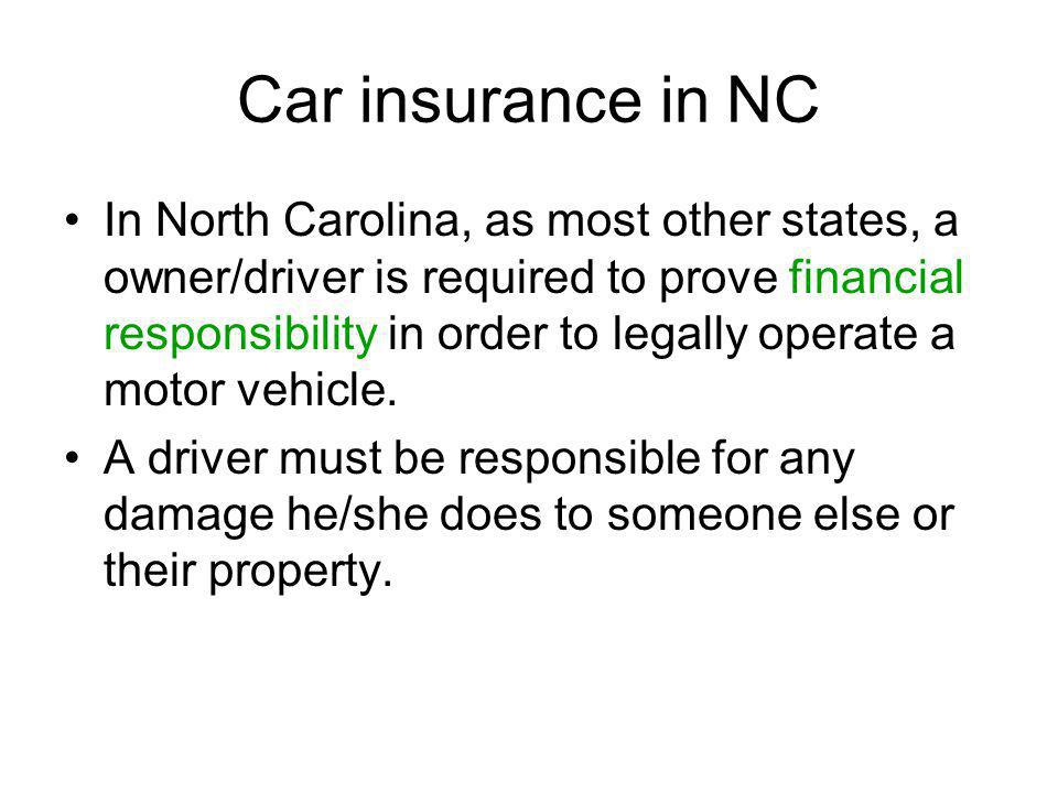 Car insurance in NC