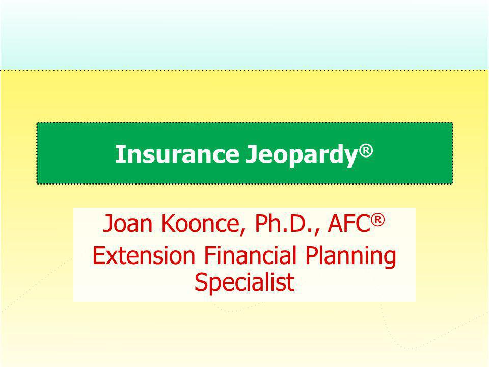 Joan Koonce, Ph.D., AFC® Extension Financial Planning Specialist