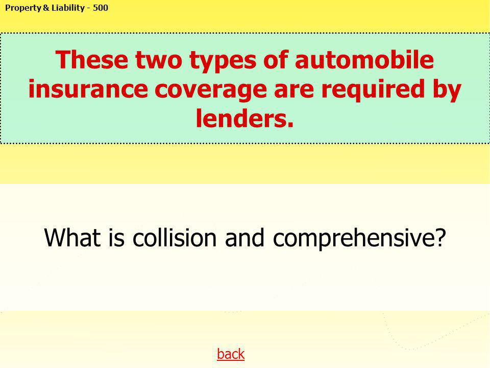 What is collision and comprehensive