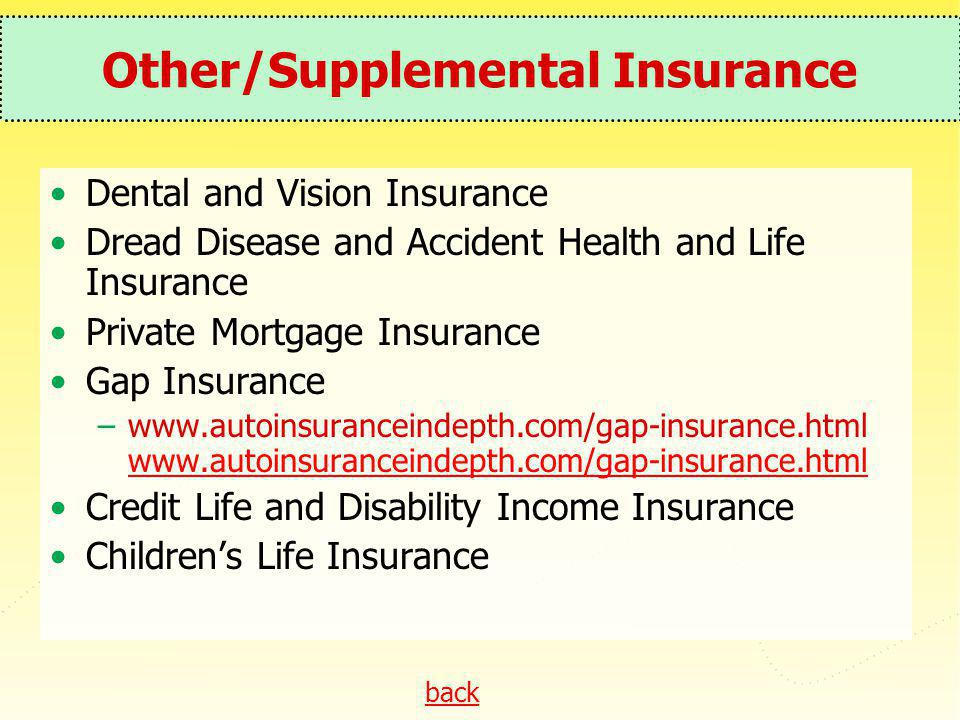 Other/Supplemental Insurance