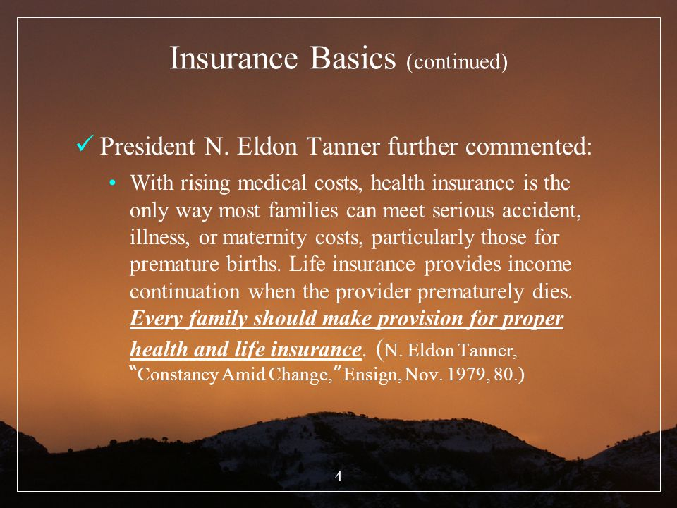 Insurance Basics (continued)