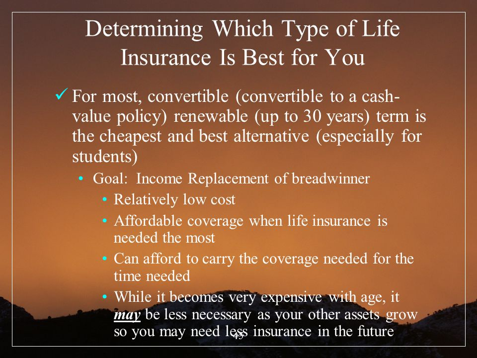 Determining Which Type of Life Insurance Is Best for You