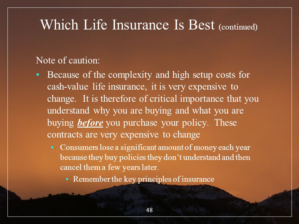 Which Life Insurance Is Best (continued)