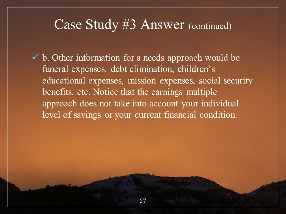Case Study #3 Answer (continued)