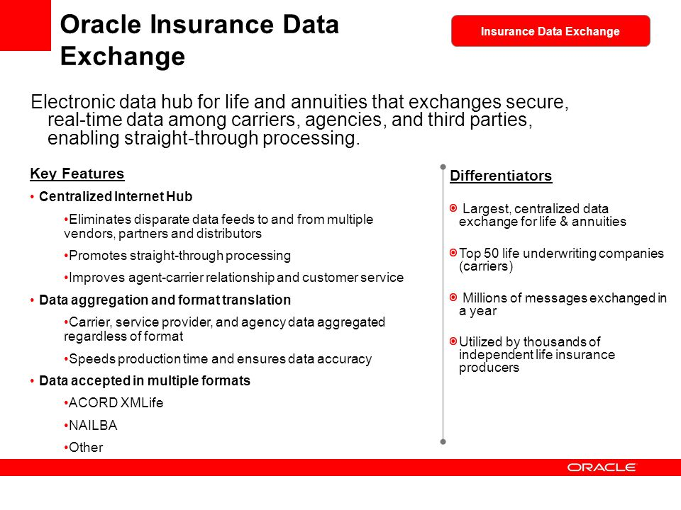 Oracle Insurance Data Exchange