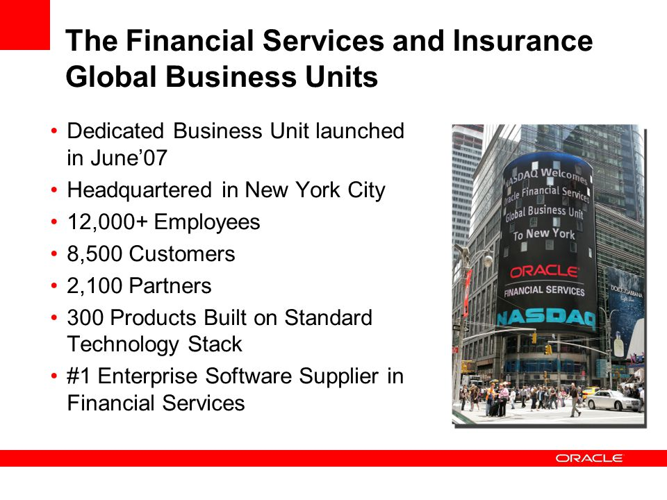 The Financial Services and Insurance Global Business Units