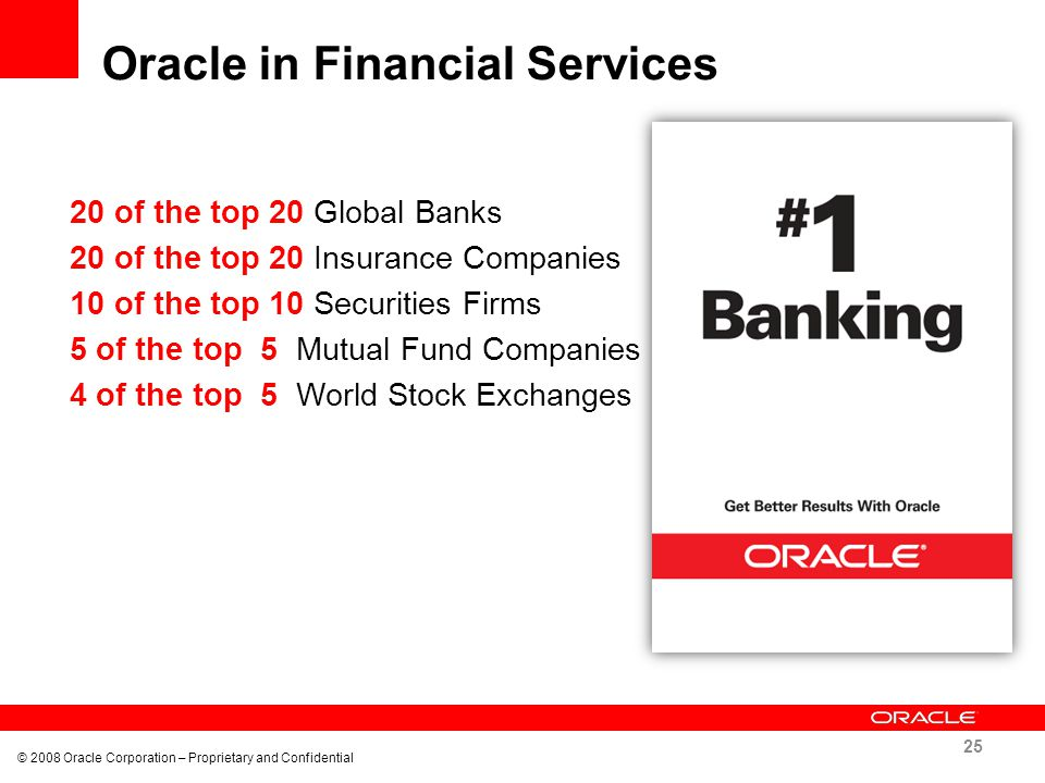 Oracle in Financial Services