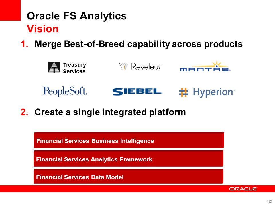Oracle FS Analytics Vision