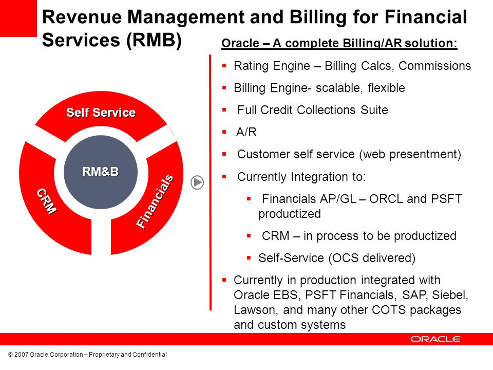 Revenue Management and Billing for Financial Services (RMB)